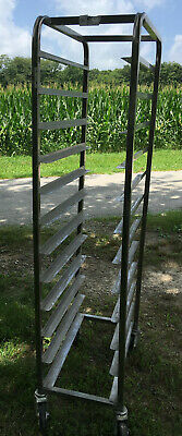 Winholt Stainless Steel Narrow 12 Shelf Sheet Pan Rack Cart Meat Tray