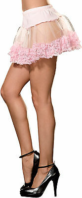 Angel Petticoat For Sexy Halloween Costumes Adult Womens Beautiful Pink One Size