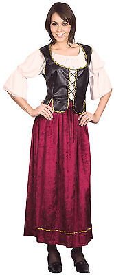 Ladies Wench Bar Girl Fancy Dress Costume Saloon Pub Womens Outfit UK 10-14