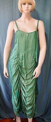 Green Santa Dress (Homefrocks Santa Fe Iridescent Green Thai Silk Ruched Silk Dress Spaghetti)