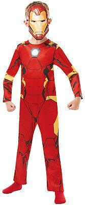 Boys Kids Iron Man Official Marvel Avengers Book Day Fancy Dress Costume 2-8 - Ironman Kostüm Kid