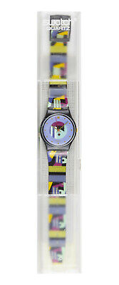 SWATCH - GOLD INLAY CIRCA 1991  MODEL GB141 VINTAGE NEW IN BOX WITH PAPERS