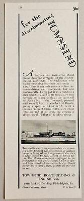 1929 Print Ad Townsend Fifty-Six Foot Diesel Cruiser Boats Philadelphia,PA