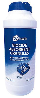 Absorbent Granules - GV Health Urine and Vomit Biocide Absorbent Granules 250g