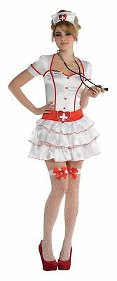 Ladies Sexy Nurse IV Fancy Dress Costume Doctor and Nurses Medical A&E 10-12