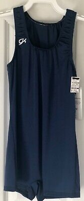 GK Elite COMPETITION SHIRT CHILD X-LARGE NAVY N/S BOYCUT LEG CUT CXL NWT!