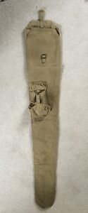 British WW2 dated webbing rifle case with external pouch. Lee Enfield?