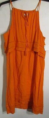 Crown & Ivy women size XL Orange Dress sleeveless NWOT Lot#10