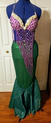 Ariel Little Mermaid Cosplay Costume Sequin Tail Skirt