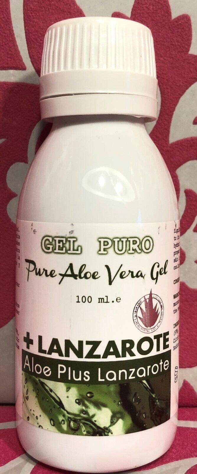 Reines Aloe Vera Gel von Aloe Plus Lanzarote, 100 ml Flasche
