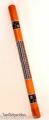"DIDGERIDOO+Bag+Beeswax Mouthpiece + Free Ship 39""(100cm) Aboriginal Dot-Painting"