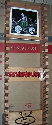 Sevendust Drumstick rack with picture frame holds 20 pairs Pinewood 02