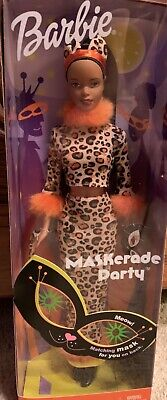 Barbie Halloween Outfit (NEW 2002 HALLOWEEN BARBIE MASKERADE PARTY CAT OUTFIT W/ MASK Dark Skin Tone)