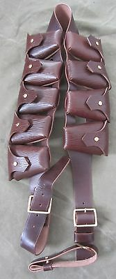 WWI BRITISH P1903 LEATHER 9 POCKET AMMO BANDOLEER BANDOLIER