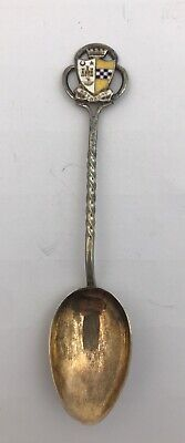 Silver & Enamel Souvenir Spoon Rothesay Birmingham 1936