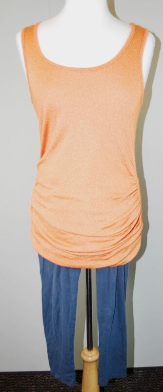 Michael Stars Maternity Tank Top & Gap Crop Leggings (Sz M) Cotton Knit Stretch