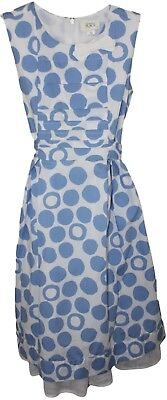The Childrens Place Youth Girls Blue White Polka Dot Sleeveless Dress Size 12