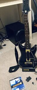 PS3 Guitar Hero live guitar, charging base, dongle and Game