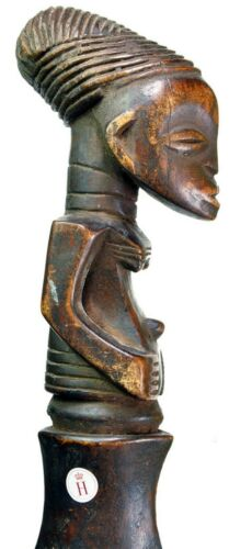 19th CENTURY MANGBETU SICKLE SWORD. EARLY FORM. FROM A ROYAL COLLECTION #9328