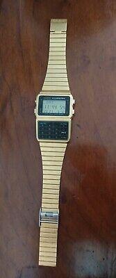 Retro Gold Casio Calculator Watch