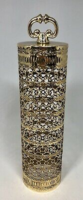 Gold Hair Spray (Beautiful Vintage Hair Spray Cover Pillar Gold Karew Custom Quality Metal)