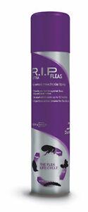 RIP Fleas Household Flea Killer Spray Aerosol Animal Dog Cat Protection 600ml
