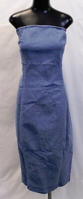 Boohoo Womens Plus Ellie Strapless Denim Wiggle Dress LP7 Light Size US:20 UK:24