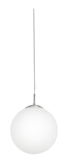 Retro Globe Ceiling Light Pendant With White Glass Globe Shade - Rondo Large