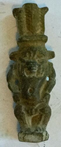 Ancient Egyptian God Bes Amulet - Authentic Ancient