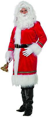 Santa Luxus Mantel - Nikolaus Kostüm - Weihnachtsmann Gr. 58 3XL  - - Santa Mantel Kostüm