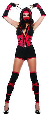 Starline Women's Red Dragon Ninja Costume