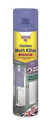 Zero In Clothes Moth Killer (300 ml Aerosol) NEW *FAST DELIVERY*