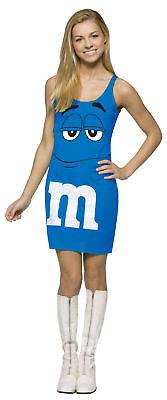 M&M'S Blue Tank Dress Teen Costume Print Front Halloween Dress Rasta Imposta](Blue M&m Halloween Costume)