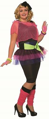 Adult 80'S Girl Madonna Cindy Lauper Costume Plus Size - 80s Costume Plus Size