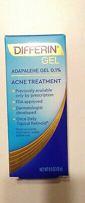 Differin Adapalene Gel 0.1% Acne Treatment, 0.5 oz