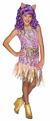 Girls Deluxe Clawdeen Wolf Costume Monster High Fancy Dress Clawdean S M L - Monster Costumes For Girls
