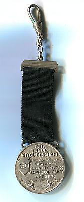 Auszeichnung 30 J. Für Treue Mitgliedschaft Concordia Walburg 1932 Silber M_090