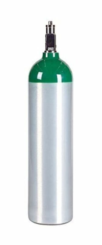 Medical Oxygen Cylinder with CGA870 Post Valve - D Size 14.3 cf (MD) New
