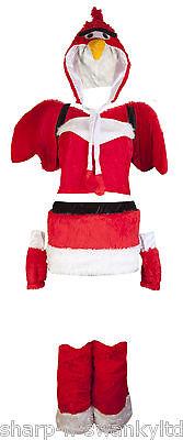 Ladies Sexy Furry Deluxe Red Bird Hen Do Fancy Dress Costume Outfit UK 8-10 (Furry Kostüme Uk)
