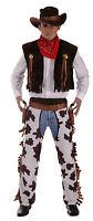 Mens Cowboy Fancy Dress Includes Hat Bandana Waistcoat Chaps - henbrandt - ebay.co.uk
