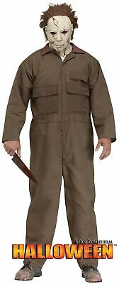 Halloween Costumes Michael Myers (Michael Myers Rob Zombie Halloween Adult Mens Costume Mask Jumpsuit One Std)
