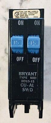 Bryant Type Brd Bd15-15 Cu-al Swd 2 Pole Tandem 15 A Circuit Breaker