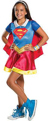Mädchen Kragen Supergirl Superheld Buch Tag Woche Verkleidung Kleid ()