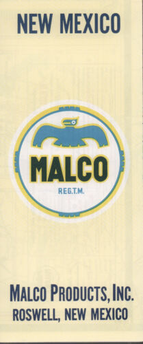1961 Malco Road Map: New Mexico NOS