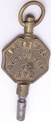 Antique Advertising Pocket Watch Key. Greenlees, Ayr. Ref WK8