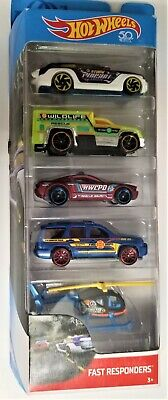 Hot Wheels 2017 Fast Responde 5 Pack Ford Mustang GT Concept 07 Chevy Taahoe