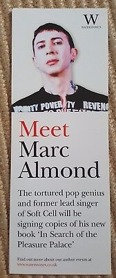 Marc Almond - book signing flyer - 2004 - In Search of the Pleasure Palace