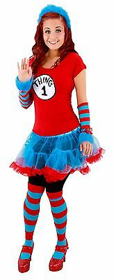 Thing 2 Costume (Dr. Seuss Thing 1&2 Striped Knee High Socks by)