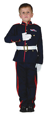 Boys Kids Teen Ceremonial Soldier Army Officer Military Fancy Dress Costume 4-13](Teen Costumes For Boys)