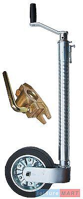 48mm Maypole Ribbed heavy duty jockey wheel 225mm wheel and quality cast clamp